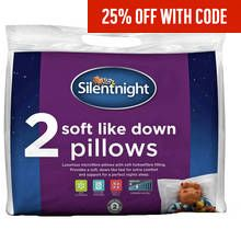 Silentnight Soft Like Down Pair of Pillows Best Price, Cheapest Prices