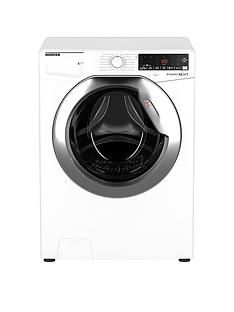Hoover Dwoa411Ahc8/1-80 11Kg Load, 1400 Spin Washing Machine - White/Chrome Door Best Price, Cheapest Prices