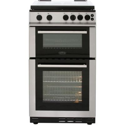 Belling FS50GTCL 50cm Gas Cooker with Full Width Gas Grill - Stainless Steel - A Rated Best Price, Cheapest Prices