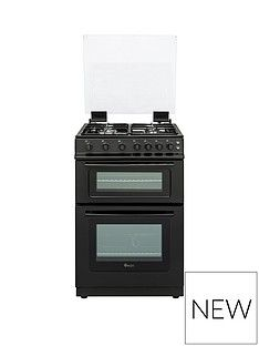 Swan SX15861B 60cm Wide Freestanding Gas Double Oven Cooker Best Price, Cheapest Prices