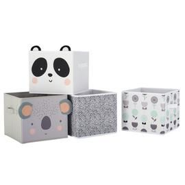 Argos Home Set of 4 Animal Canvas Boxes Best Price, Cheapest Prices