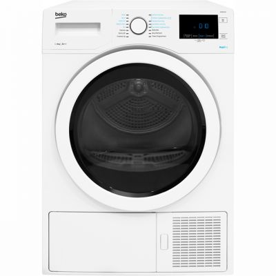 Beko DPH8744W 8Kg Heat Pump Tumble Dryer - White - A++ Rated Best Price, Cheapest Prices