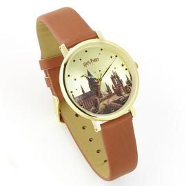 Harry Potter Marauders Map Burgundy Leather Strap Watch Best Price, Cheapest Prices