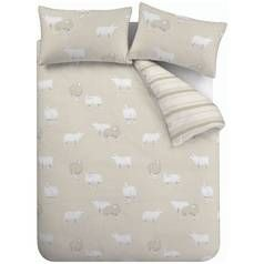 Catherine Lansfield Sheep Natural Bedding Set – Double Best Price, Cheapest Prices