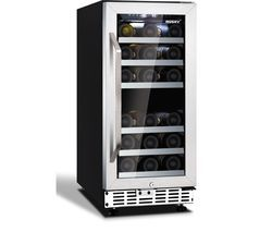 HUSKY HUS-ZY4-D-SS-26 Wine Cooler - Black & Silver Best Price, Cheapest Prices
