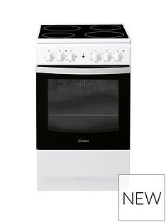 Indesit IS5V4KHW 50cm Electric Single Oven Cooker - White Best Price, Cheapest Prices
