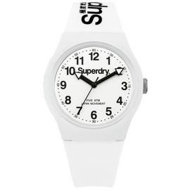 Superdry Men's White Silicone Strap Watch Best Price, Cheapest Prices