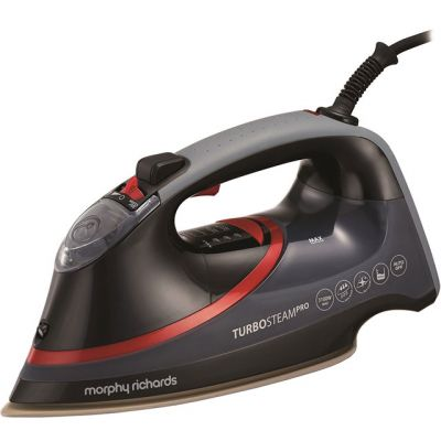 Morphy Richards Turbo Steam Diamond 303125 3100 Watt Iron -Black / Red Best Price, Cheapest Prices