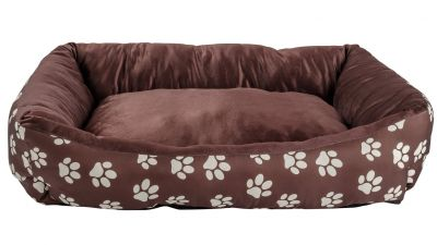 Paw Print Square Pet Bed - Large Best Price, Cheapest Prices