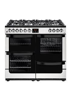 New World Vision 100DFT Dual Fuel 100cm Wide Range Cooker (Stainless Steel) with Connection Best Price, Cheapest Prices