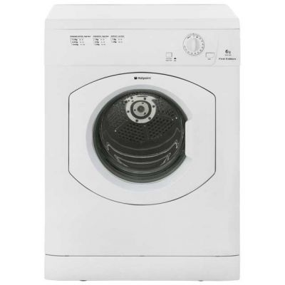 Hotpoint First Edition FETV60CP 6Kg Vented Tumble Dryer - White - C Rated Best Price, Cheapest Prices