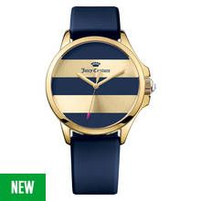 Juicy Couture Ladies' Jetsetter Blue Striped Dial Watch Best Price, Cheapest Prices