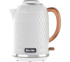 BREVILLE Curve VKT018 Jug Kettle - White & Rose Gold Best Price, Cheapest Prices