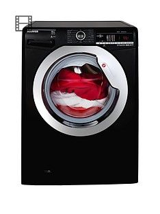 Hoover Dynamic Next DXOA48C3B 8kg Load, 1400 Spin Washing Machine with One Touch - Black/Chrome Best Price, Cheapest Prices