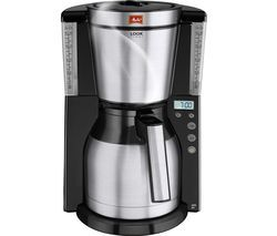 MELITTA Look IV Therm Timer Filter Coffee Machine - Black & Stainless Steel Best Price, Cheapest Prices
