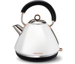MORPHY RICHARDS Accents 102106 Traditional Kettle - White & Rose Gold Best Price, Cheapest Prices