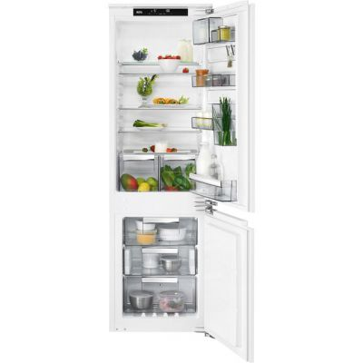 AEG SCE8182VNC Integrated 70/30 Frost Free Fridge Freezer with Fixed Door Fixing Kit - White - A++ Rated Best Price, Cheapest Prices