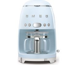 SMEG 50's Retro DCF02PBUK Filter Coffee Machine - Pastel Blue Best Price, Cheapest Prices