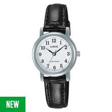 Lorus Ladies' Easy Read Dial Black Leather Strap Watch Best Price, Cheapest Prices