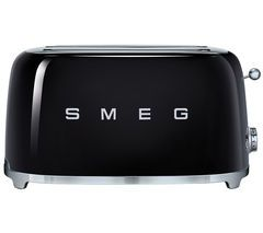 SMEG TSF02BLUK 4-Slice Toaster - Black Best Price, Cheapest Prices