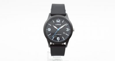 Lorus Men's Black Silicone Strap Watch Best Price, Cheapest Prices