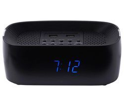 GROOV-E Sound Curve GV-SP407-BK FM Bluetooth Clock Radio - Black Best Price, Cheapest Prices