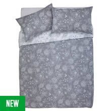 Argos Home Grace Grey Bedding Set - Double Best Price, Cheapest Prices