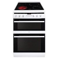 Amica AFC6550WH 60cm Double Oven Electric Cooker With Ceramic Hob - White Best Price, Cheapest Prices