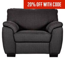 Argos Home Milano Fabric Armchair - Charcoal