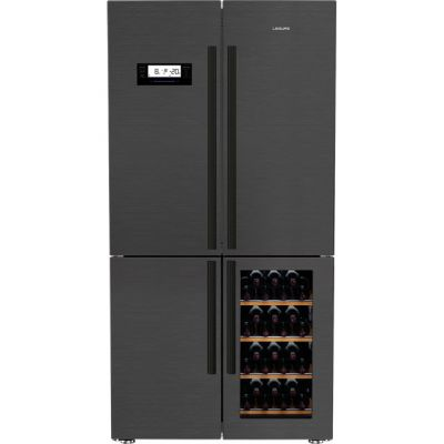 Leisure LM16251WZ American Fridge Freezer - Dark Steel - A+ Rated Best Price, Cheapest Prices