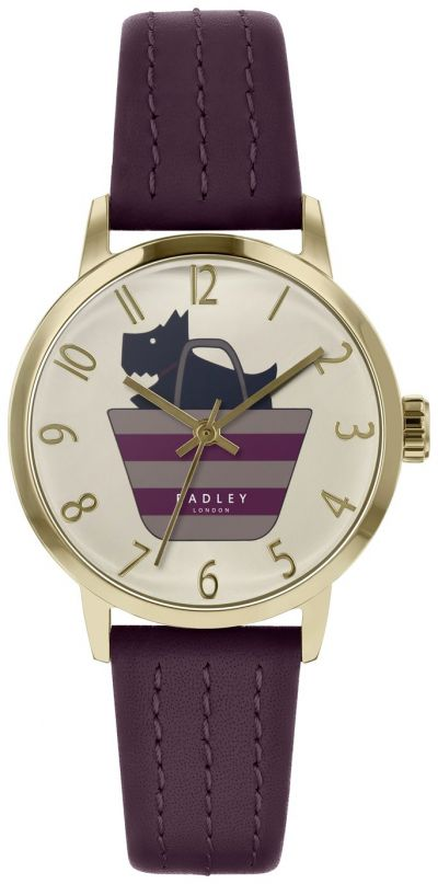 Radley Ladies Purple Leather Strap Watch Best Price, Cheapest Prices