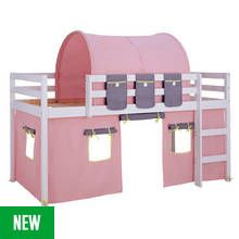 Argos Home Kaycie White Mid Sleeper with Rose Tent Best Price, Cheapest Prices
