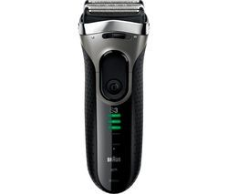 BRAUN 3090CC Shaver - Black & Silver Best Price, Cheapest Prices