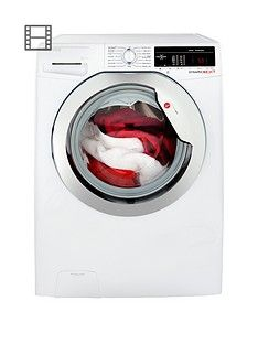 Hoover Dynamic Next DXOA49C3 9kg Load, 1400 Spin Washing Machine with One Touch - White/Chrome Best Price, Cheapest Prices