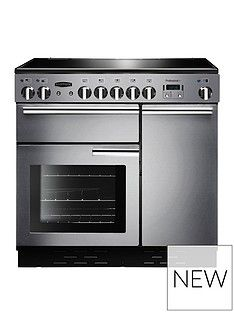 Rangemaster  PROP90EISS Professional Plus 90cm Wide Electric Range Cooker with Induction Hob - Stainless Steel Best Price, Cheapest Prices