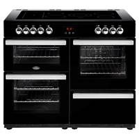 Belling Cookcentre 110E 110cm Electric Range Cooker in Black 444444098 Best Price, Cheapest Prices