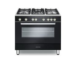 KENWOOD CK307G 90 cm Gas Range Cooker – Black & Chrome Best Price, Cheapest Prices