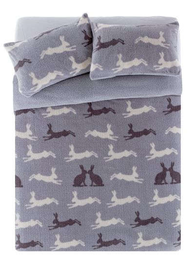 Argos Home Fleece Hare Bedding Set - Superking Best Price, Cheapest Prices