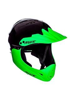Awe BMX Full Face Helmet Black Green Medium 58-62cm Best Price, Cheapest Prices
