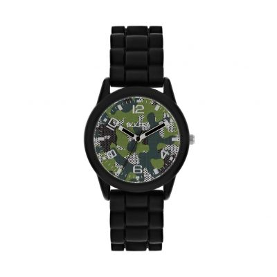 Tikkers Childrens Black Silicone Strap Watch Best Price, Cheapest Prices