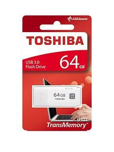 Toshiba 64GB USB 3.0 Flash Drive - White Best Price, Cheapest Prices
