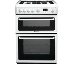 HOTPOINT Ultima HAG60P Gas Cooker - White Best Price, Cheapest Prices