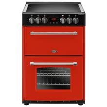 Belling Farmhouse 60E 60cm Double Oven Electric Cooker - Red Best Price, Cheapest Prices