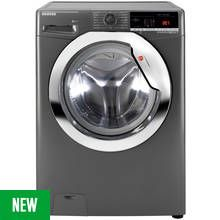Hoover DXOA 48C3R 8KG 1400 Spin Washing Machine - Graphite Best Price, Cheapest Prices