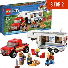 LEGO City Great Vehicles Pickup & Caravan Truck Toy - 60182 Best Price, Cheapest Prices