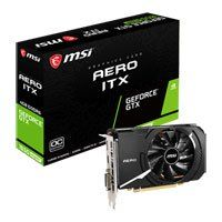 MSI GeForce GTX 1650 SUPER AERO ITX OC 4GB GDDR6 VR Ready Graphics Card, 1280 Core, 1530MHz GPU, 1740MHz Boost Best Price, Cheapest Prices