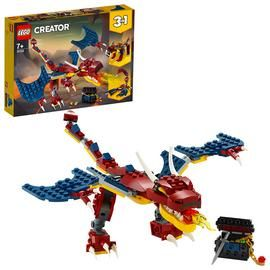 LEGO Creator 3-in-1 Fire Dragon Construction Set 31102 Best Price, Cheapest Prices