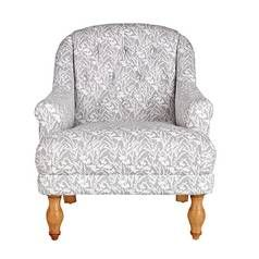 Argos Home Macy Fabric Armchair - Floral Light Grey Best Price, Cheapest Prices