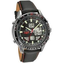 Accurist Skymaster Men's Black Leather Chronograph Watch Best Price, Cheapest Prices
