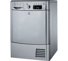 INDESIT IDCE8450BS Condensor Tumble Dryer - Silver Best Price, Cheapest Prices